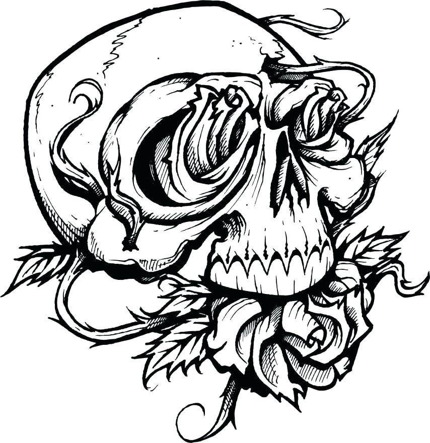 854x880 Skull And Crossbones Coloring Pages Skull Printable Coloring Pages