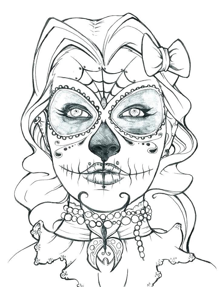 736x949 Skull And Crossbones Coloring Sheets Free Printable Skull Coloring