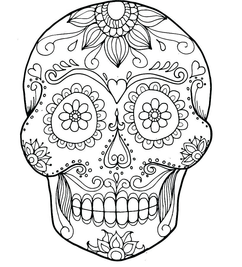 816x900 Skull Bones Coloring Pages Free Sugar Skull Coloring Page