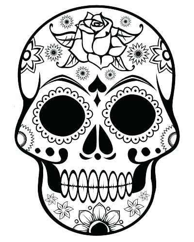 400x500 Skull Coloring Pages To Print Skull Coloring Pages To Print