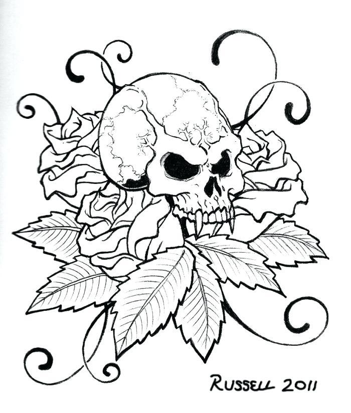 700x824 Skull Colour Pencil Skull Coloring Free Printable Skull Coloring