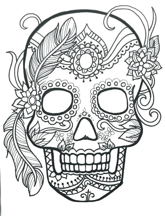 570x744 Sugar Skull Free Coloring Pages Gallery Skull Coloring Sheets