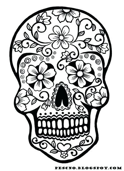 398x549 Coloring Pages Skulls Of The Dead Sugar Skulls Coloring Pages Free