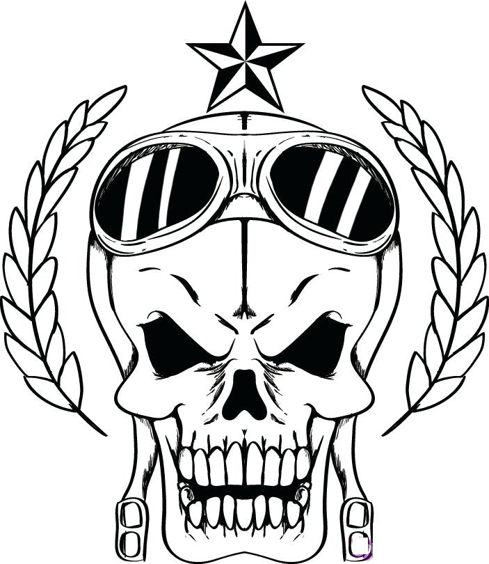 703x810 Coloring Pages Skulls Skull With Bones Coloring Pages Pirate Skull