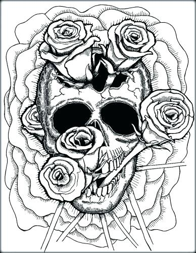 388x500 Free Printable Skull And Crossbones Coloring Pages Sugar Page
