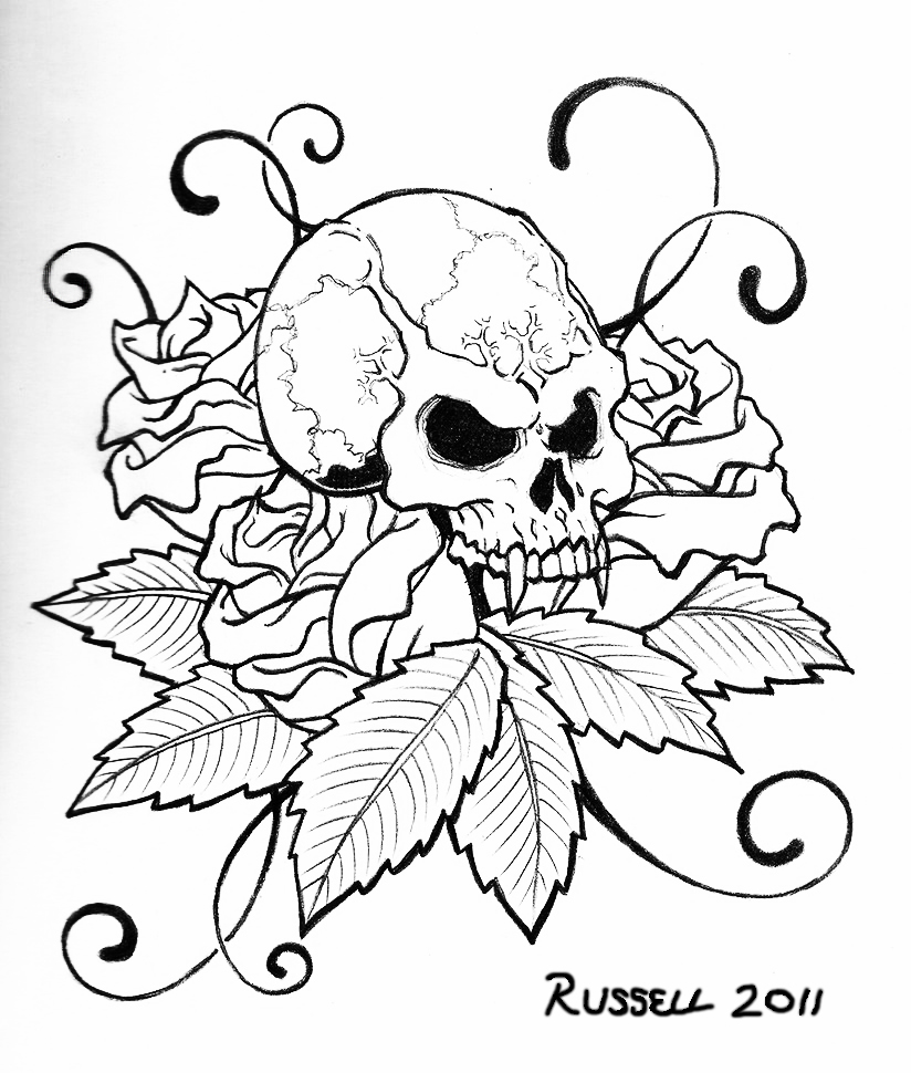 824x970 Skull Coloring Pages