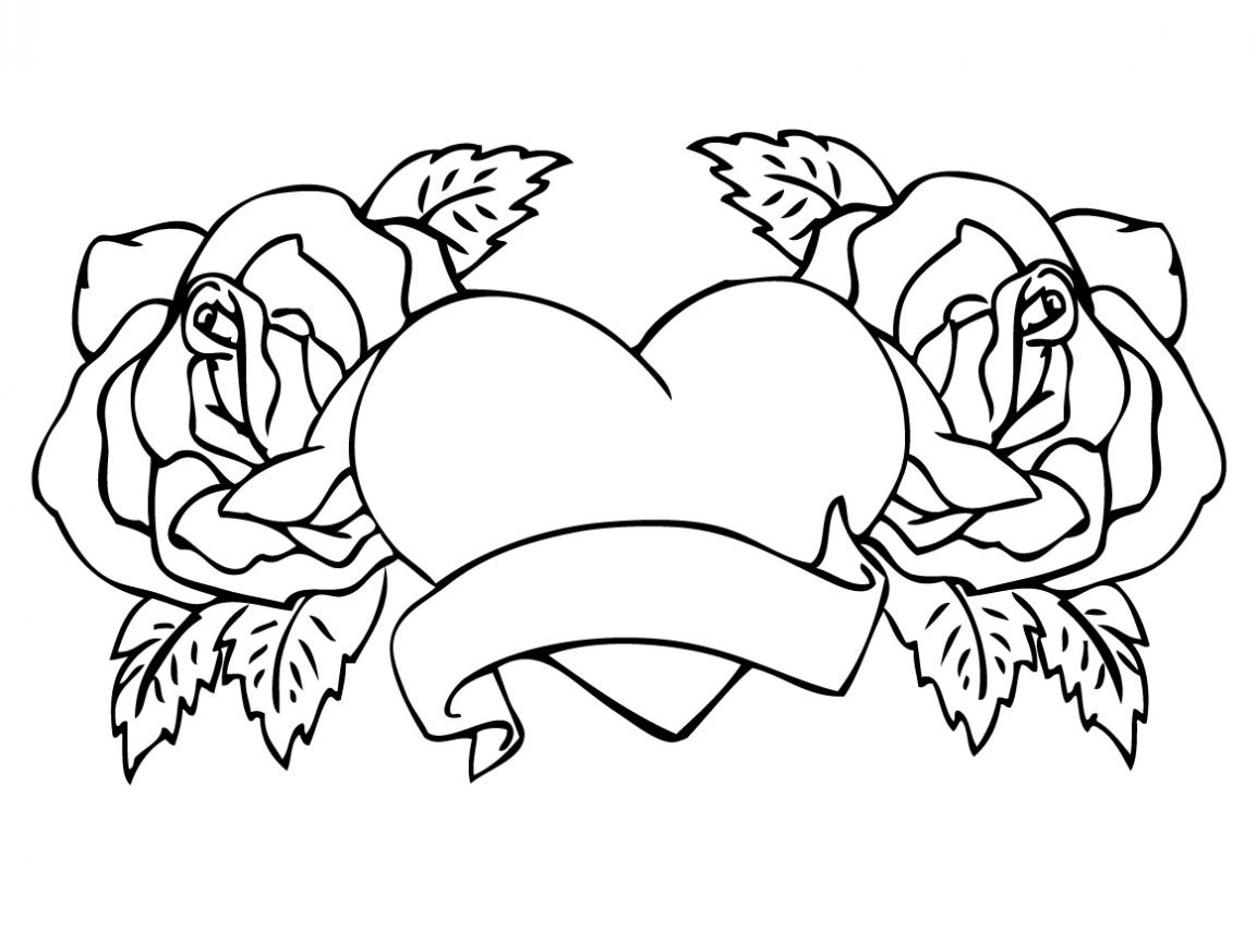1152x864 Best Of Skull And Roses Coloring Pages Collection Free Also Rose