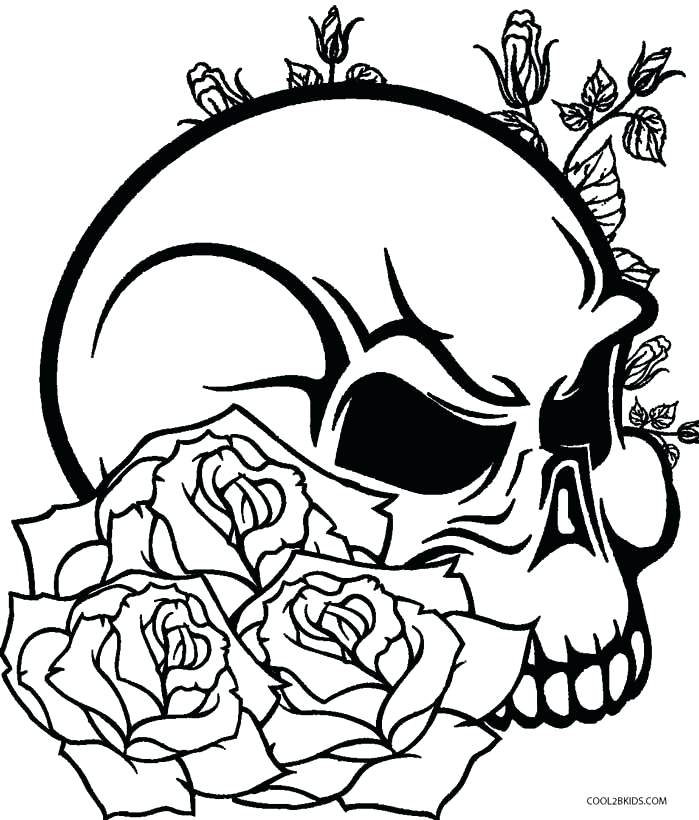 699x820 Coloring Pages Of Roses Skulls Rose Color Pages Skulls