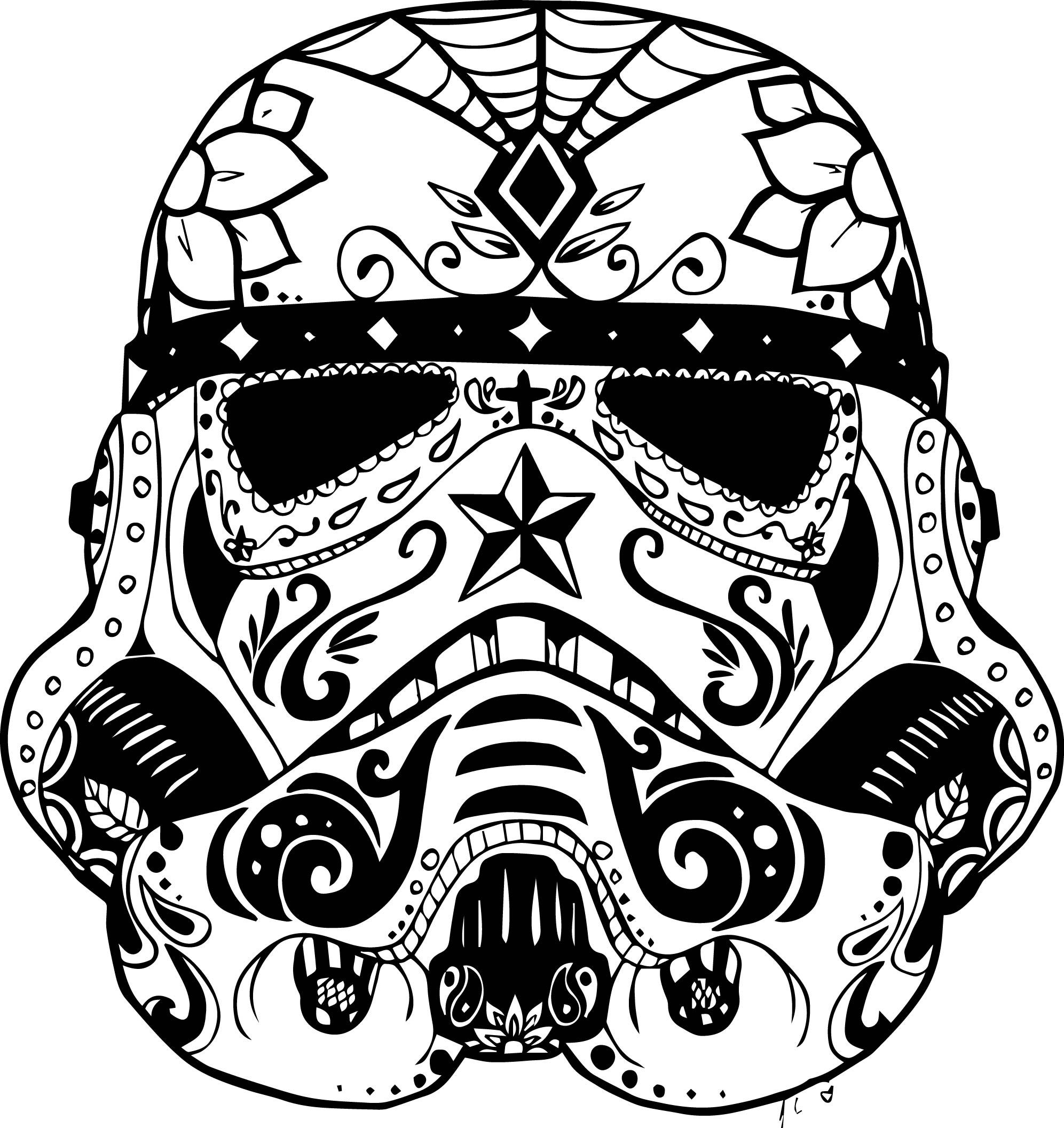 1993x2113 Marvelous Day Of The Dead Skull Coloring Pages Printable Image