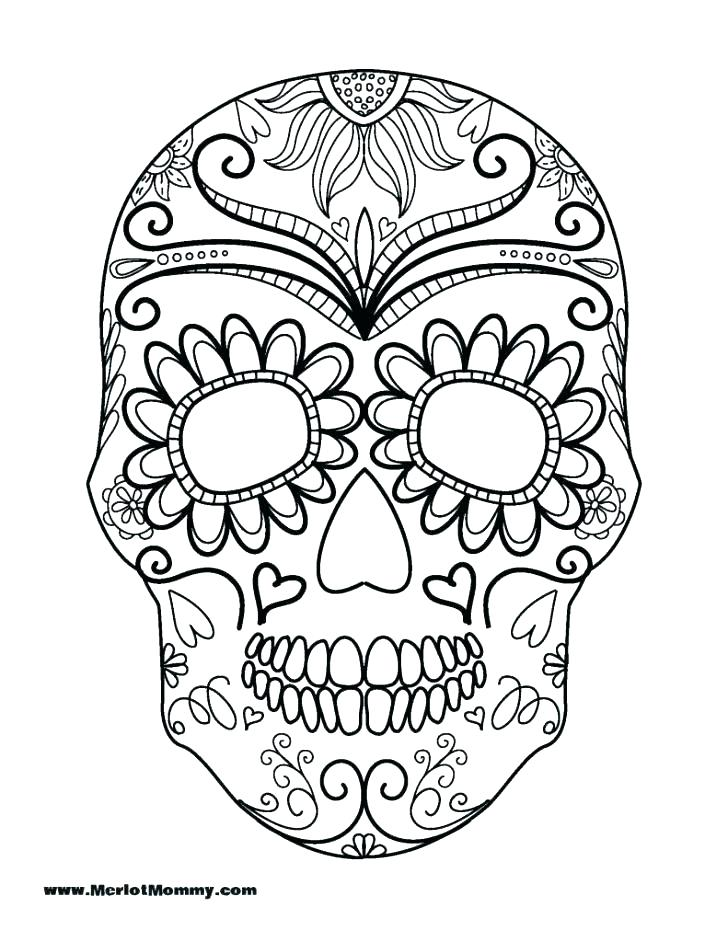 728x942 Skull Coloring Pages Skull Coloring Page Click The Skull