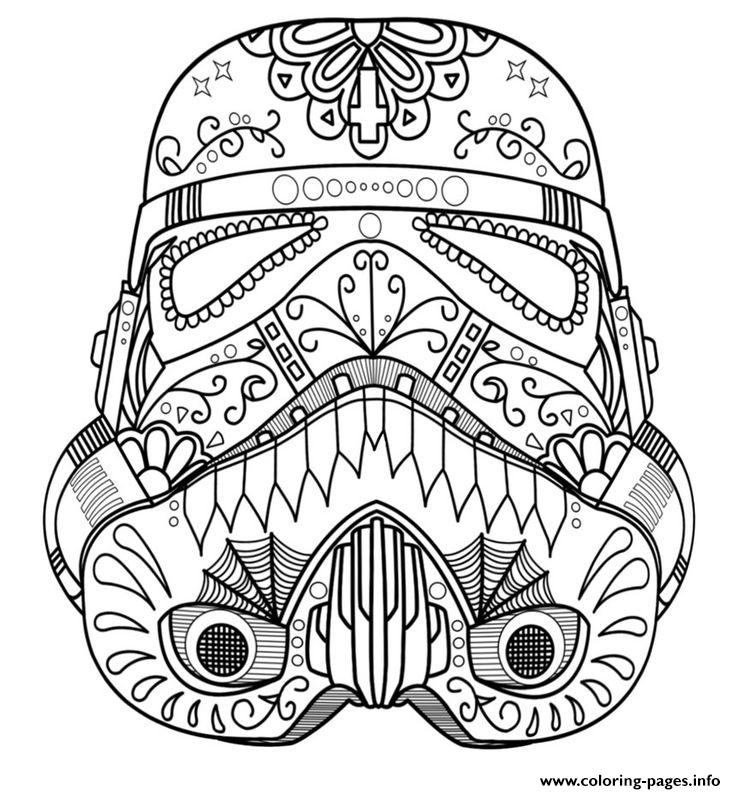736x794 Starwars Skull Sugar Adult Coloring Pages Printable