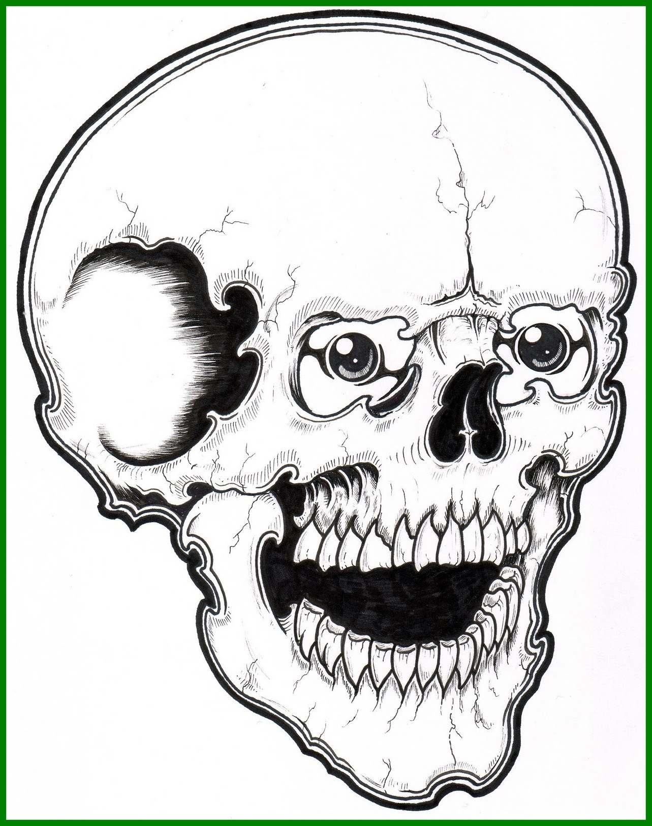 1283x1624 Stunning Printable Skull Coloring Pages For Kids Pics Skeleton