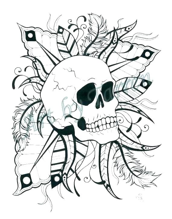 570x725 Sugar Skull Coloring Pages Skull Printable Coloring Pages As Well