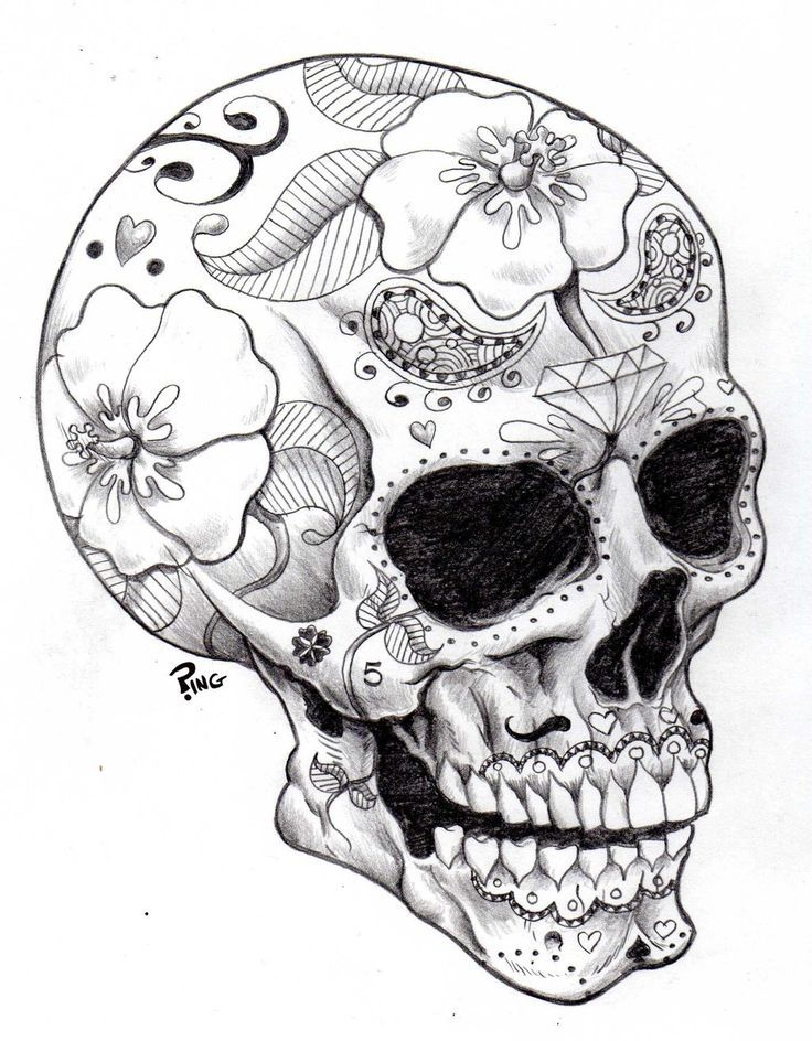 736x944 Sugar Skulls Coloring Pages