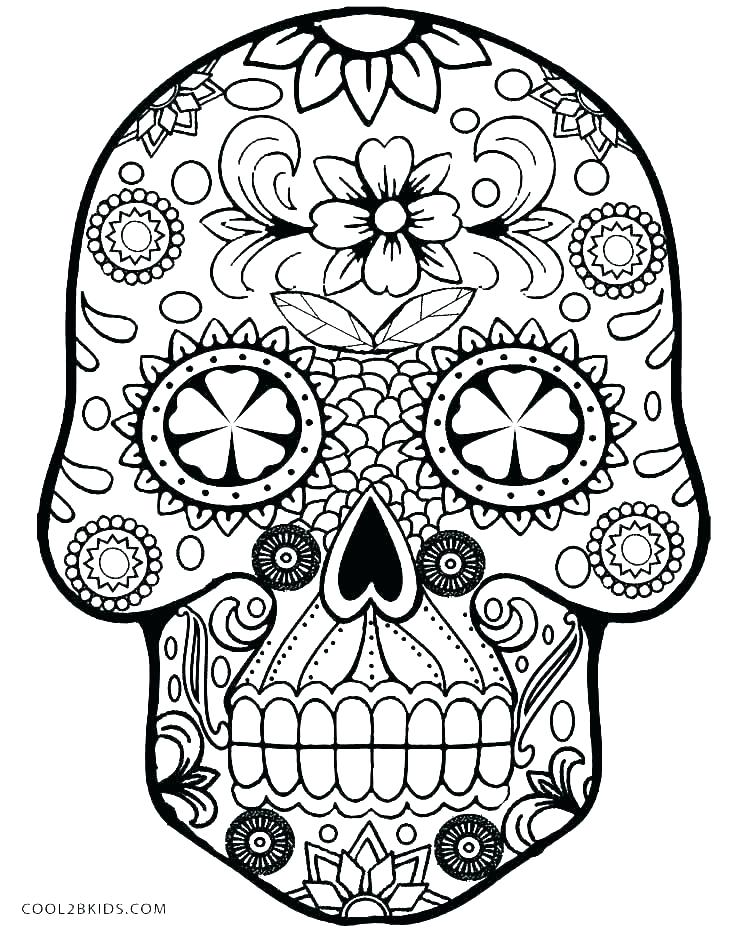 736x930 Sugar Skull Coloring Pages For Adults Icontent