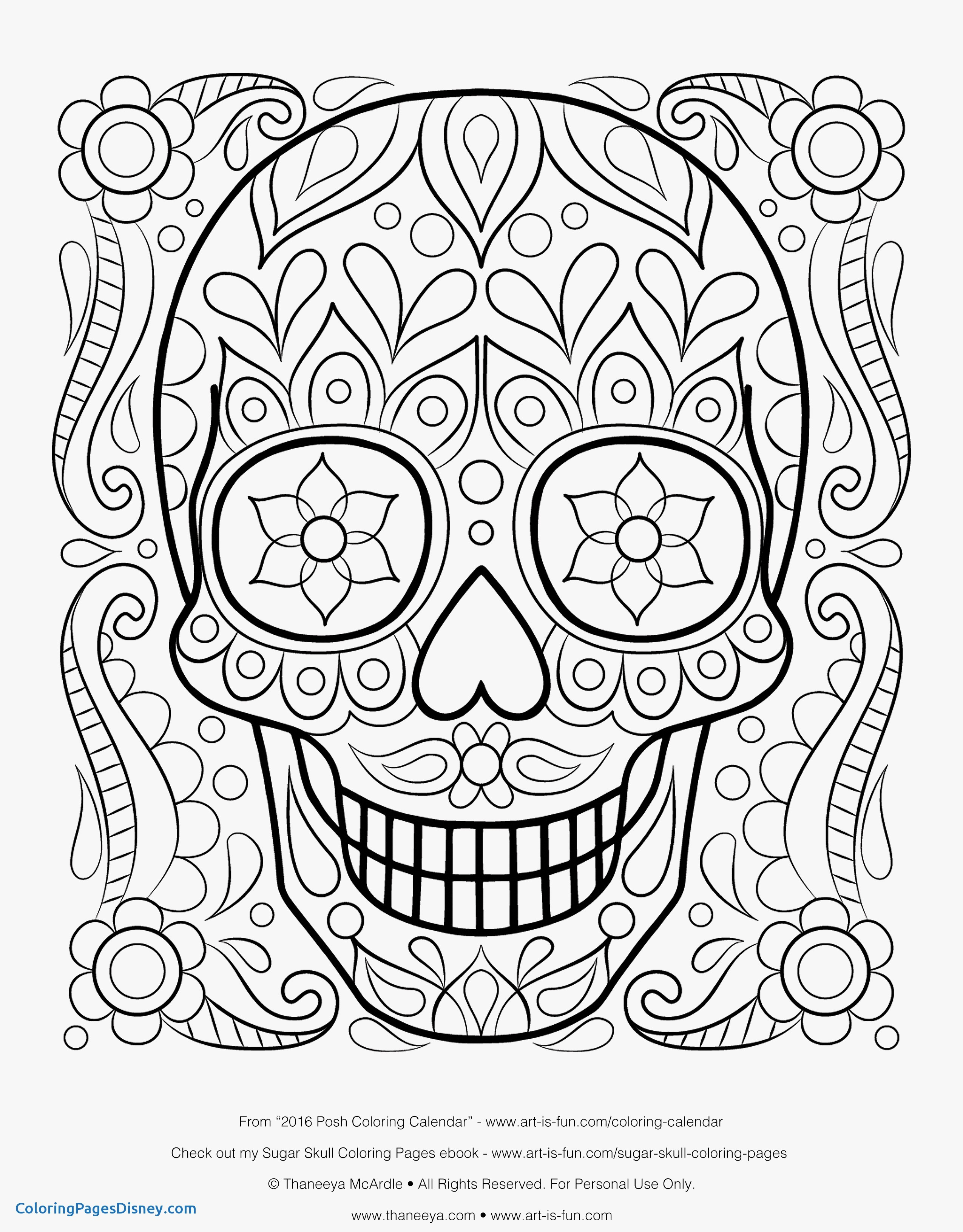 2550x3263 Coloring Pages To Print Best Of Free Sugar Skull Coloring Page