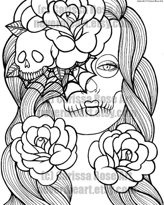 570x713 Digital Download Print Your Own Coloring Book Outline Page