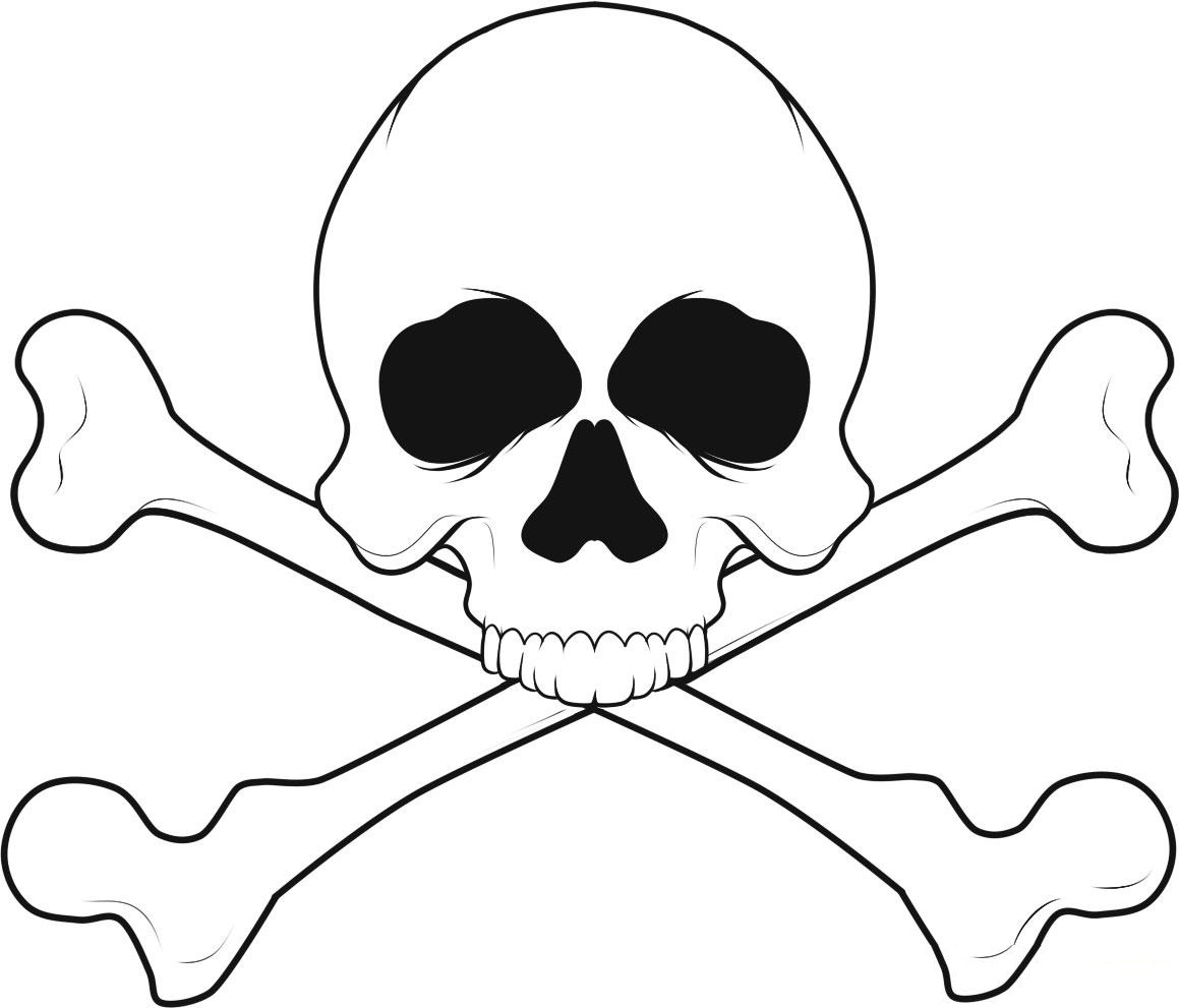 1159x991 Free Printable Skull Coloring Pages For Kids, Skull Head Coloring