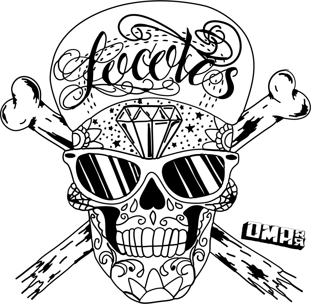 1086x1062 Rose And Skull Coloring Pages For Adults Gallery Within