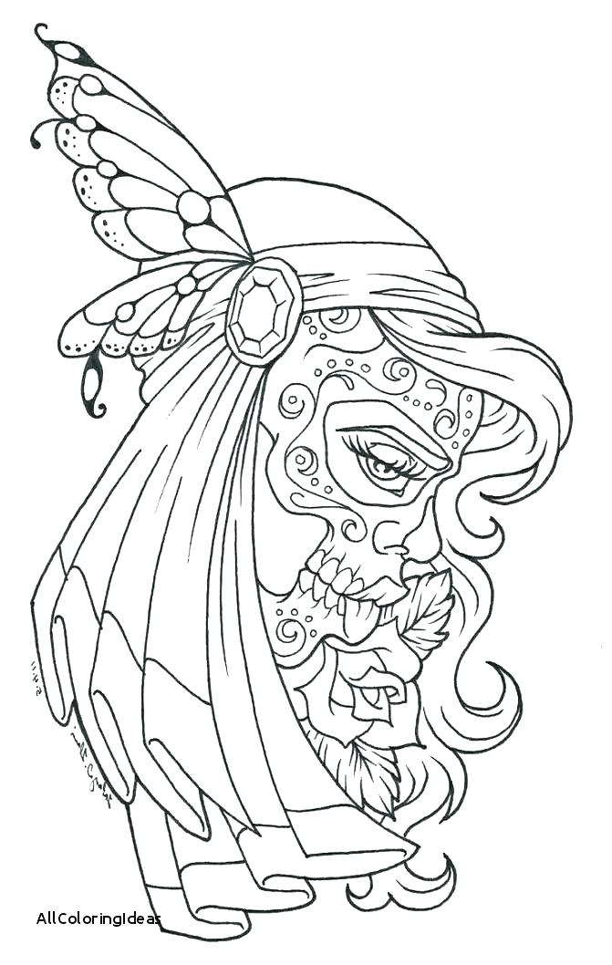 Skull Tattoo Coloring Pages At Getdrawings Com Free For Personal