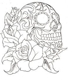 236x266 Day Of The Dead Sugar Skull Tattoo Sugar Skulls
