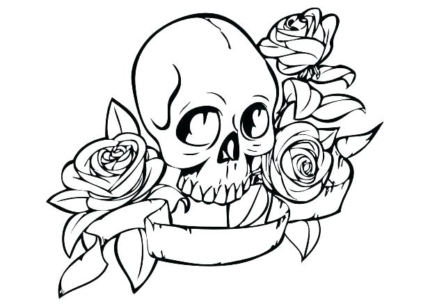 618x437 Skulls And Roses Coloring Pages Here Are Skull Coloring Pages