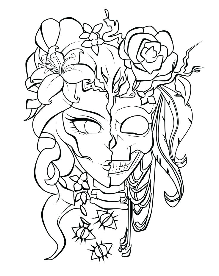 736x927 Roses Coloring Pages