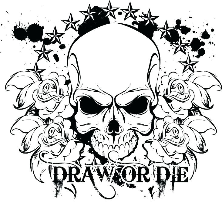 732x669 Skull And Roses Coloring Pages Rose Color Page Coloring Pages Rose