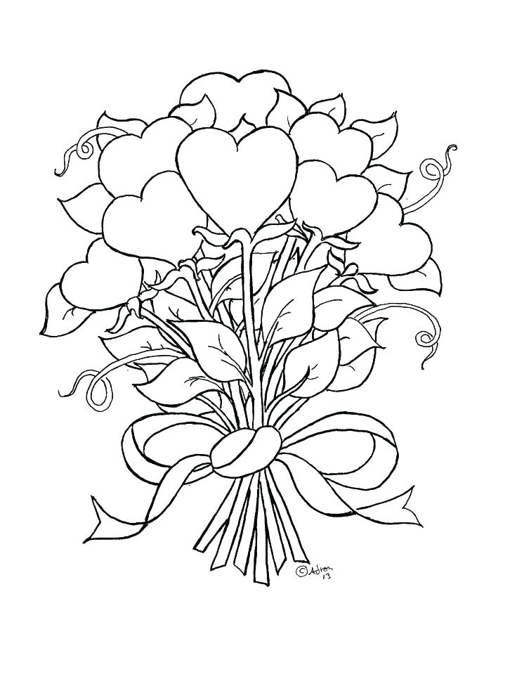 736x966 Coloring Pages Hearts Hearts Roses Coloring Pages Skulls