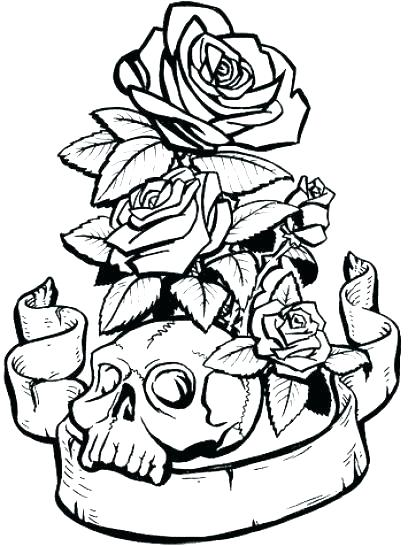 408x546 Coloring Pages Rose Coloring Pages Rose Rose Coloring Sheets Skull
