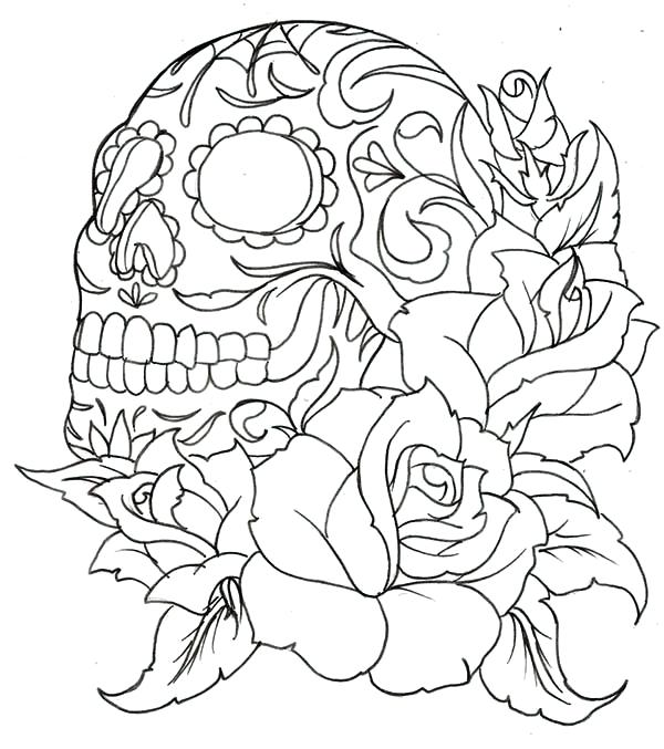 600x677 Coloring Pages Roses Hearts And Roses Coloring Pages Coloring