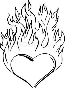 228x308 Flames Coloring Pages Cheetah Print How To Draw Drawing Flames