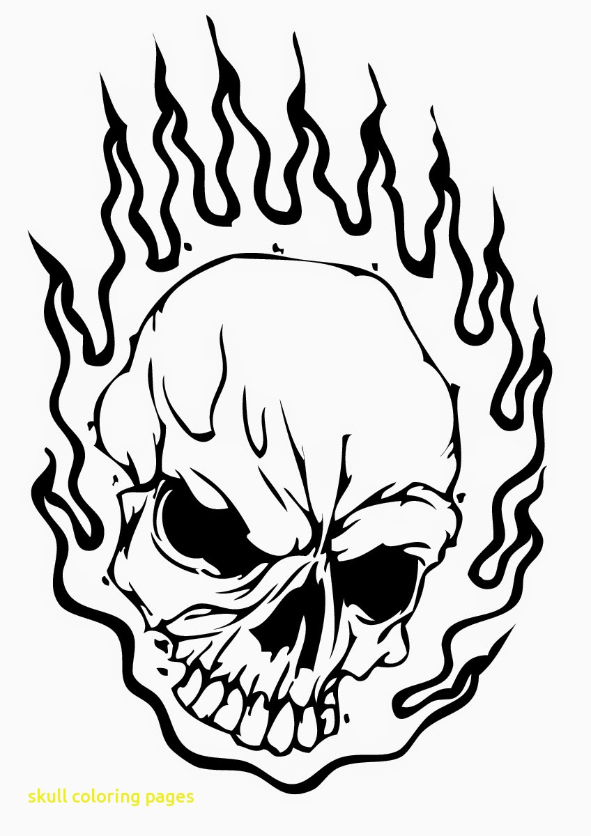 848x1200 Skull Coloring Pages With Skull Coloring Pages On Fire