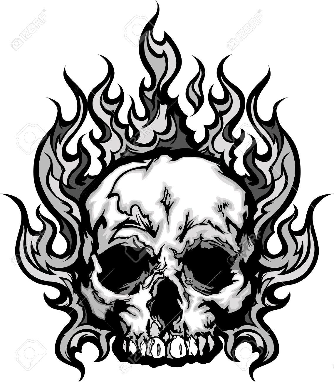 1137x1300 Breakthrough Coloring Pages Skulls Flames Skul