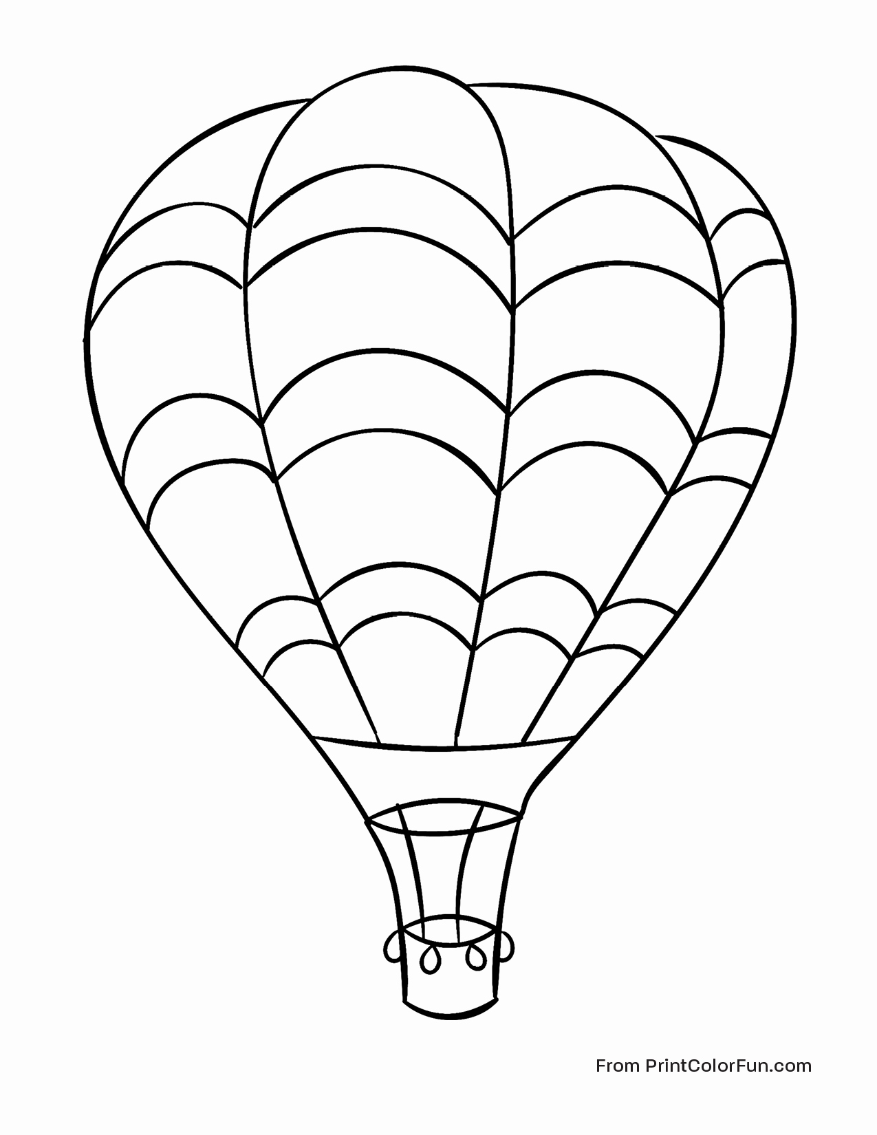 The Best Free Air Balloon Coloring Page Images Download From 879