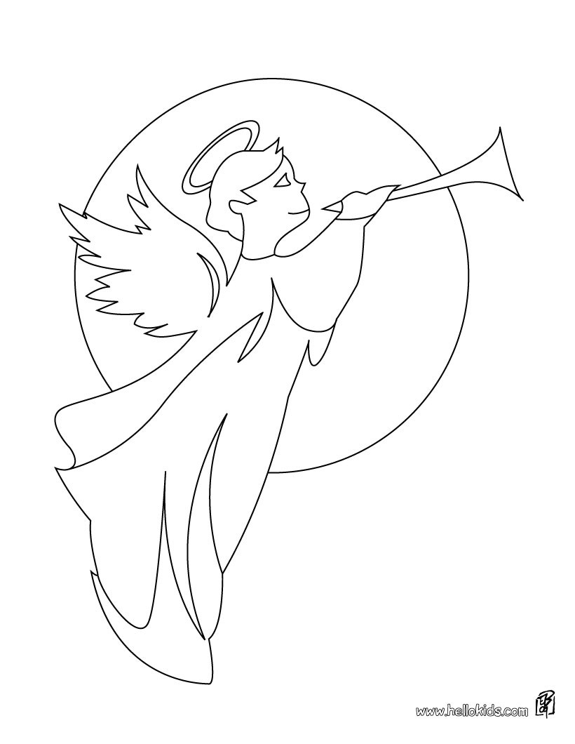 820x1060 Two Angels In The Sky Coloring Pages