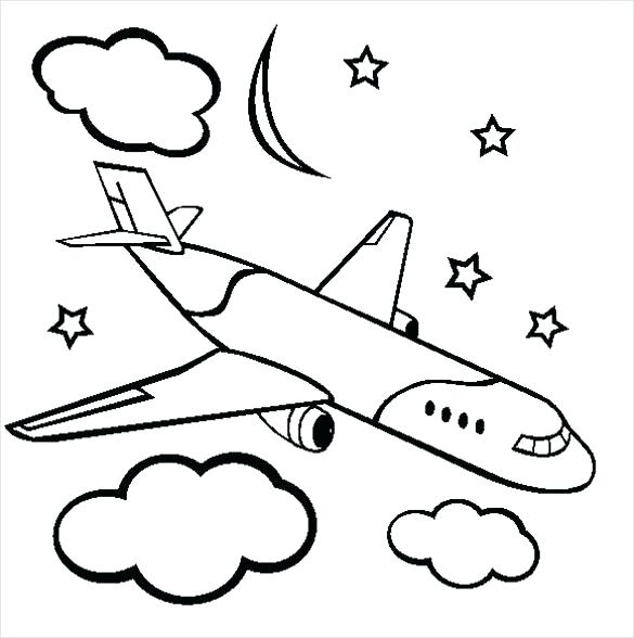 585x588 Coloring Page Airplane A Is For Airplane Coloring Page Printable