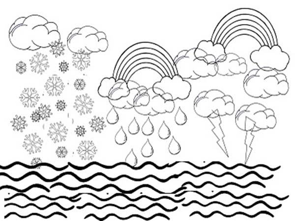 600x450 Days Of Creation Sky Water Coloring Pages Sun Within Designs