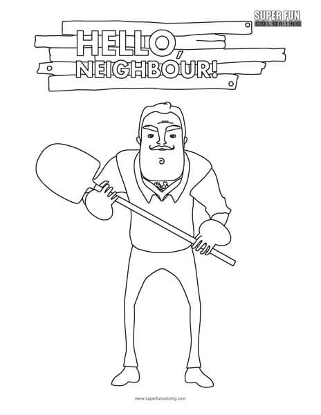 464x600 Hello Neighbor Coloring Page