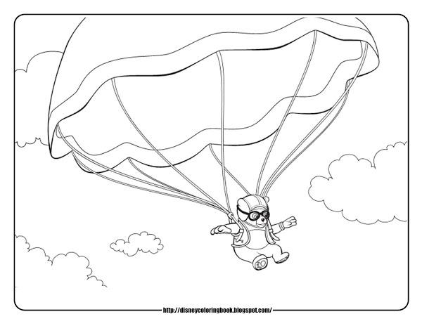 600x464 Parachute Coloring Pages