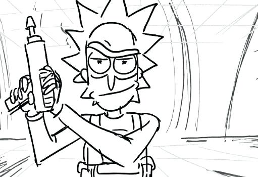 511x350 Rick And Morty Coloring Pages Page Cartoon Board