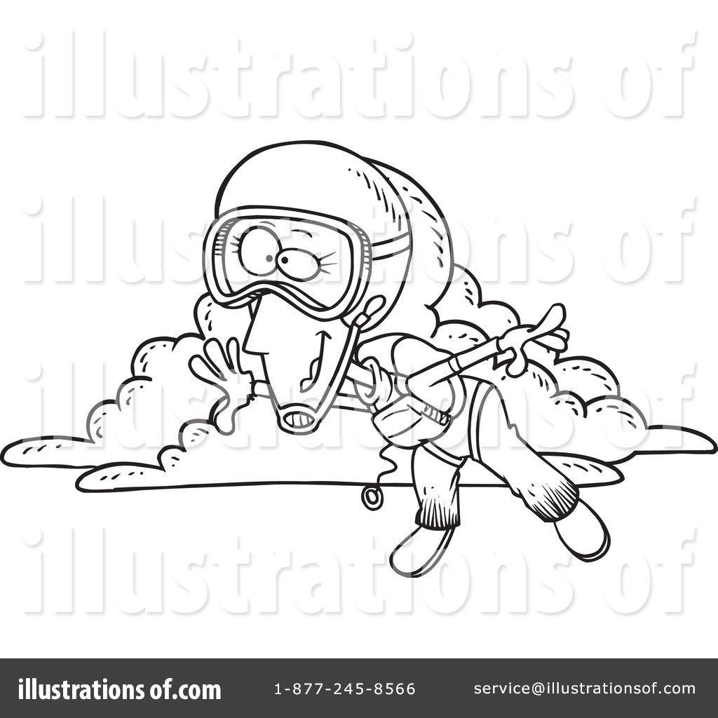 1024x1024 Skydiving Clipart