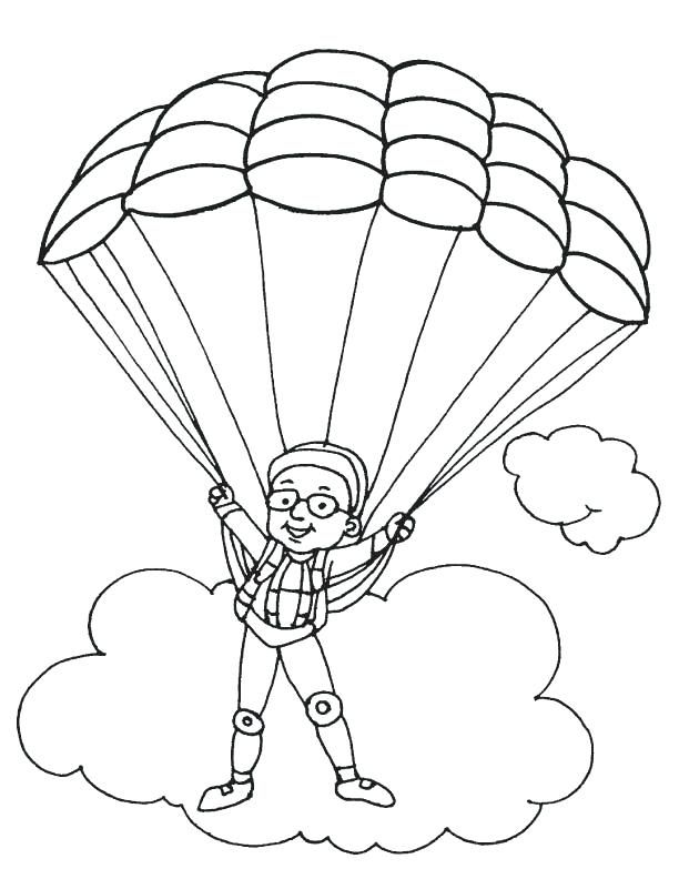 612x792 Parachute Coloring Pages