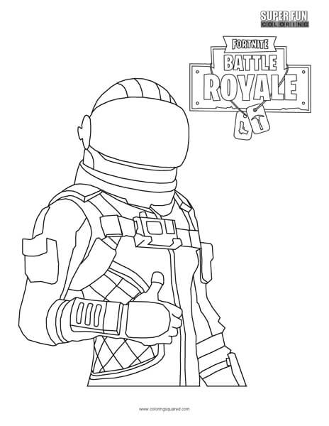 464x600 Fortnite Character Coloring Page