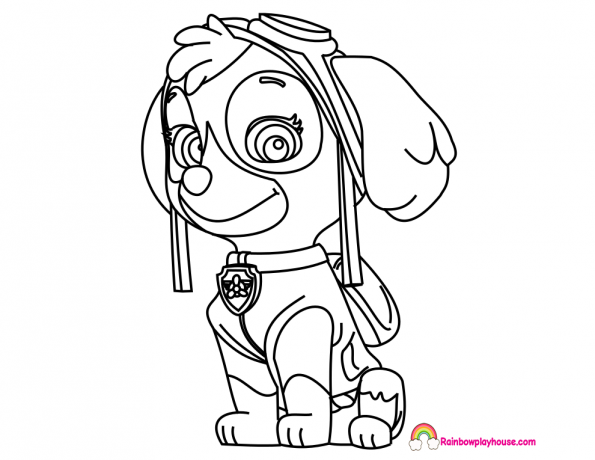 Skye Paw Patrol Coloring Pages at GetDrawings | Free download