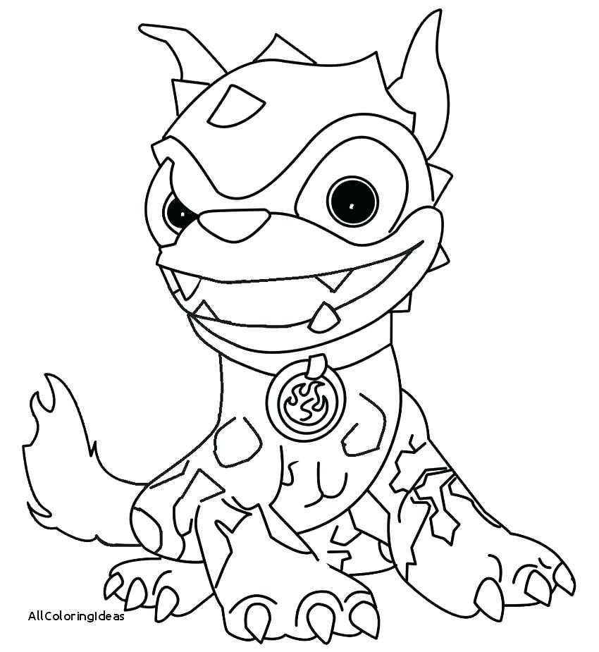 Skylanders Coloring Pages Hot Dog
