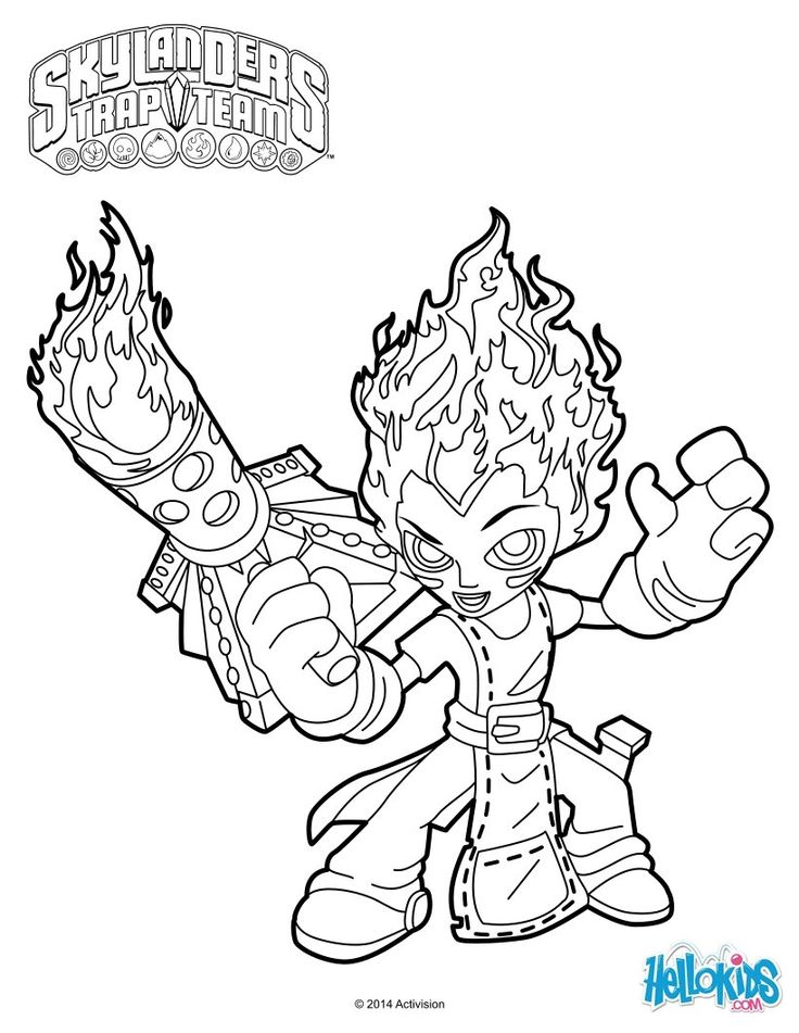 Skylanders Trap Team Coloring Pages At Getdrawings Com Free For