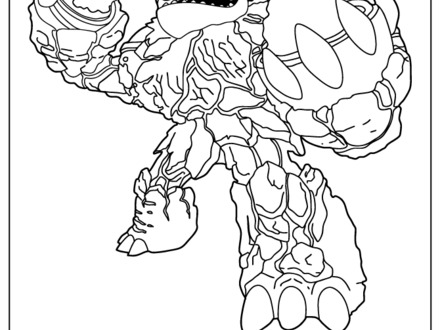 Skylanders Hot Head Coloring Pages