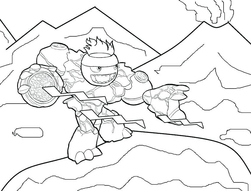 850x647 Printable Skylanders Coloring Pages Color Page Ghost Roaster