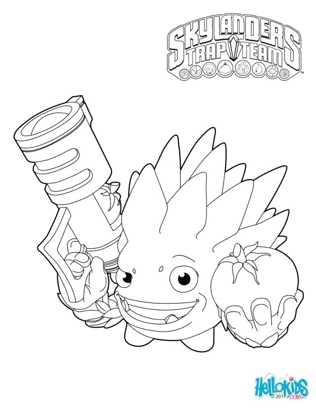 640x827 Skylander Coloring Pages Coloring Trap Team Coloring Pages Food